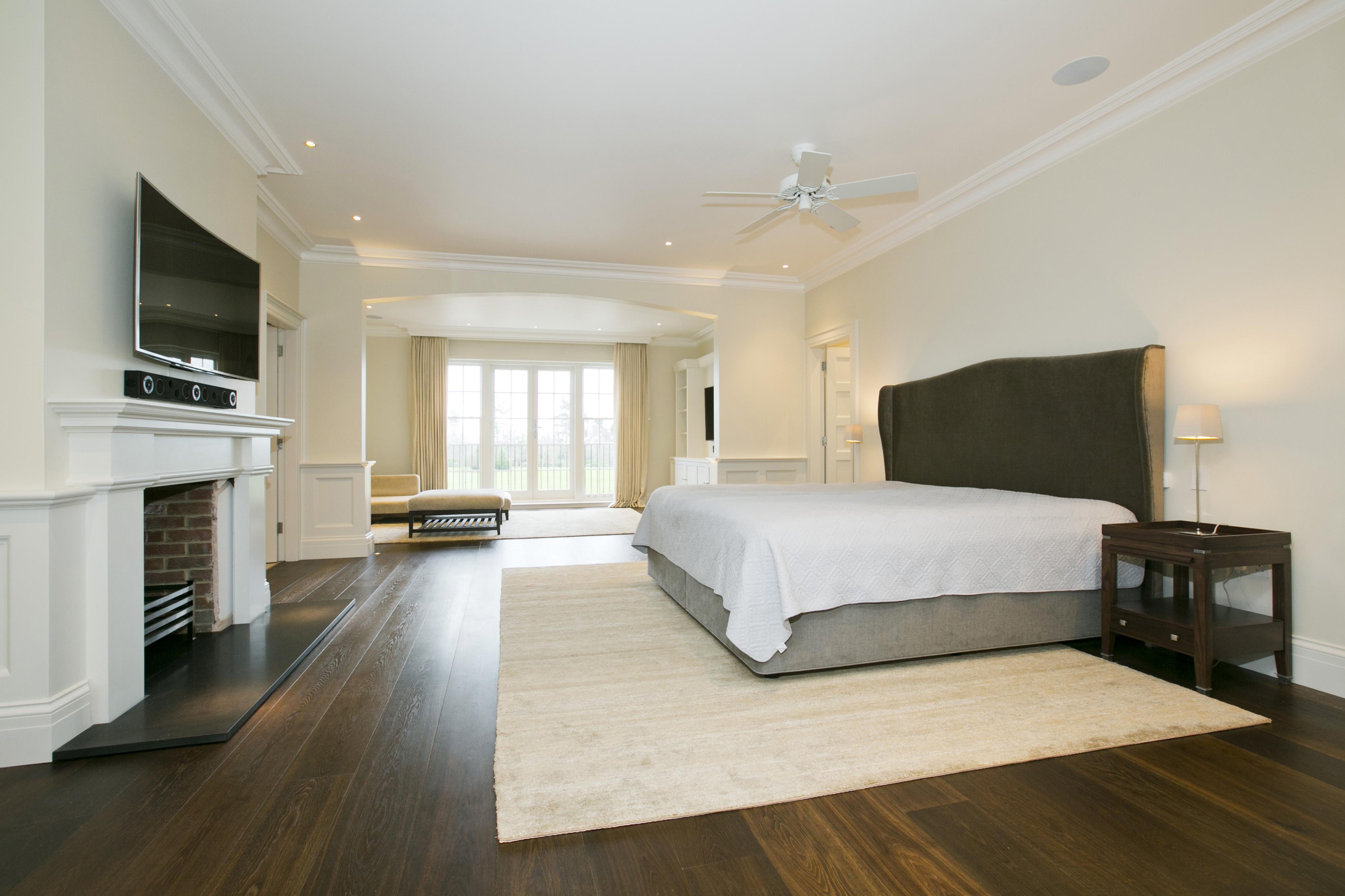 silk carpet and wood flooring