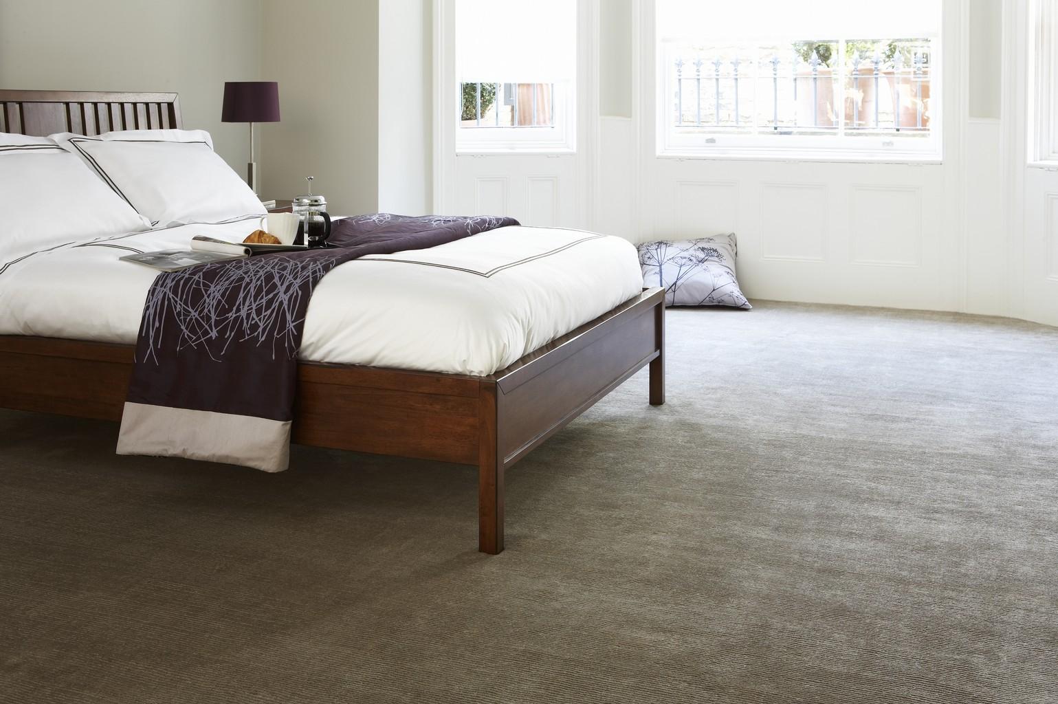 luxury carpet in bedroom, grey
