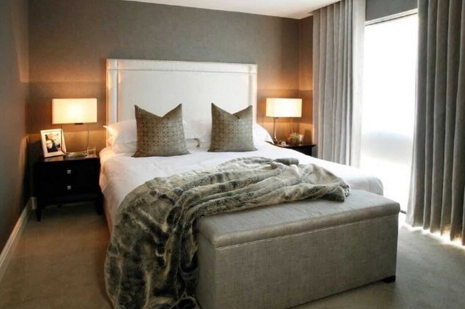 grey silk effect luxury carpet in bedroom