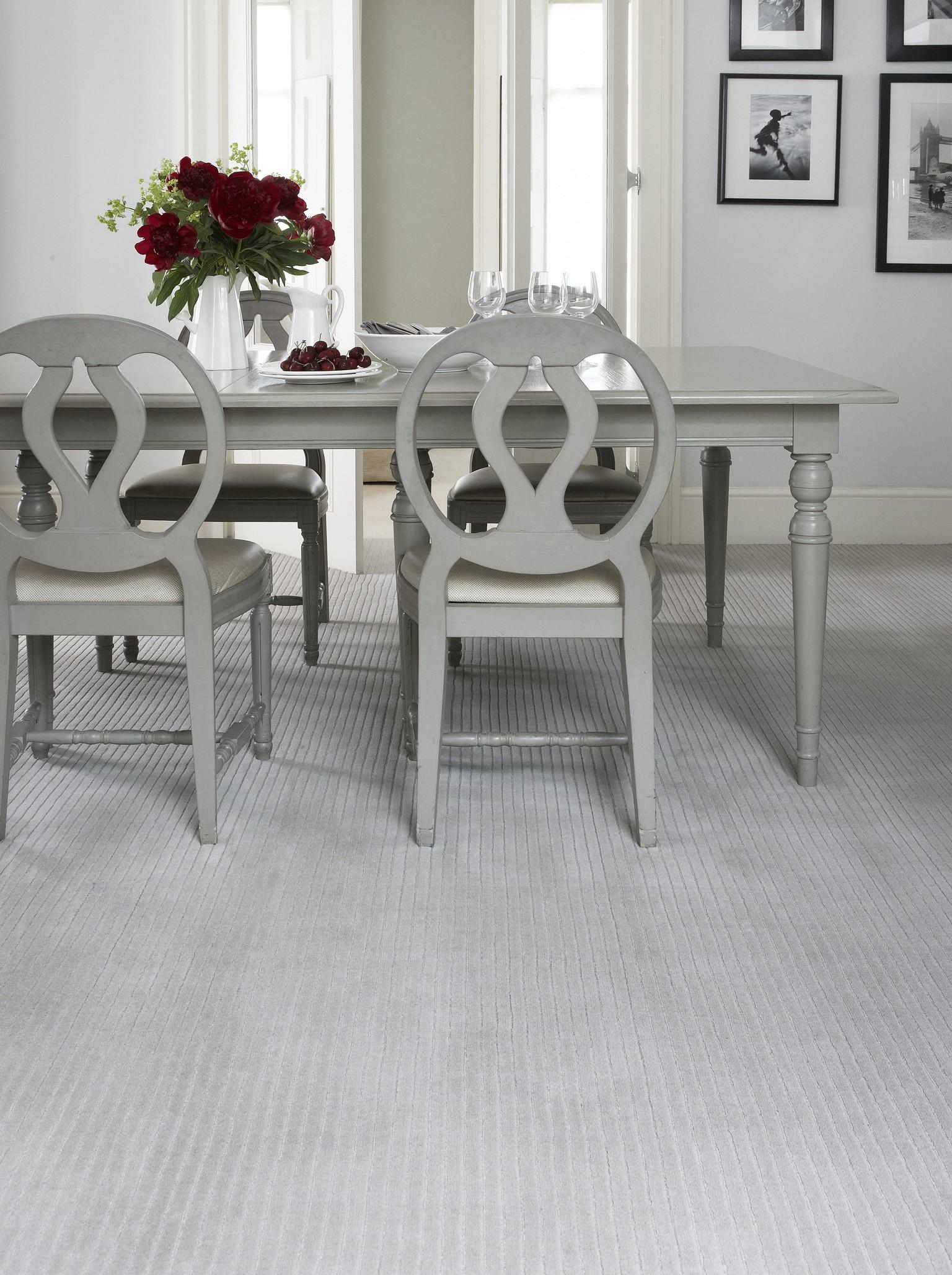 ribbed wool luxury carpet