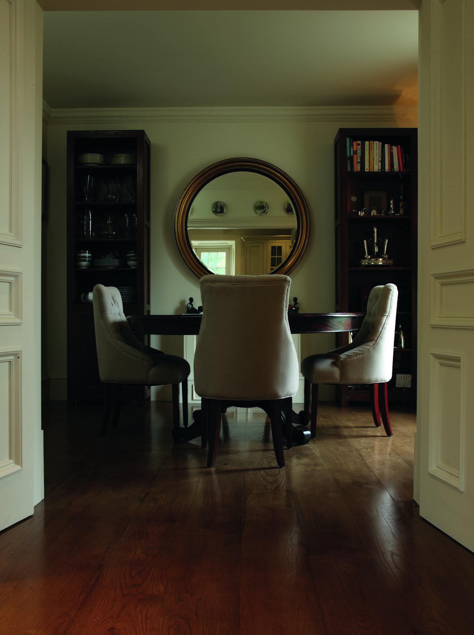 luxury wood flooring in dining room