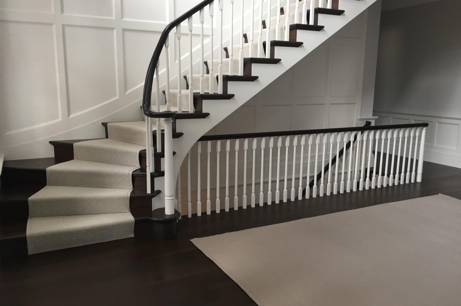 diamond stair runner print