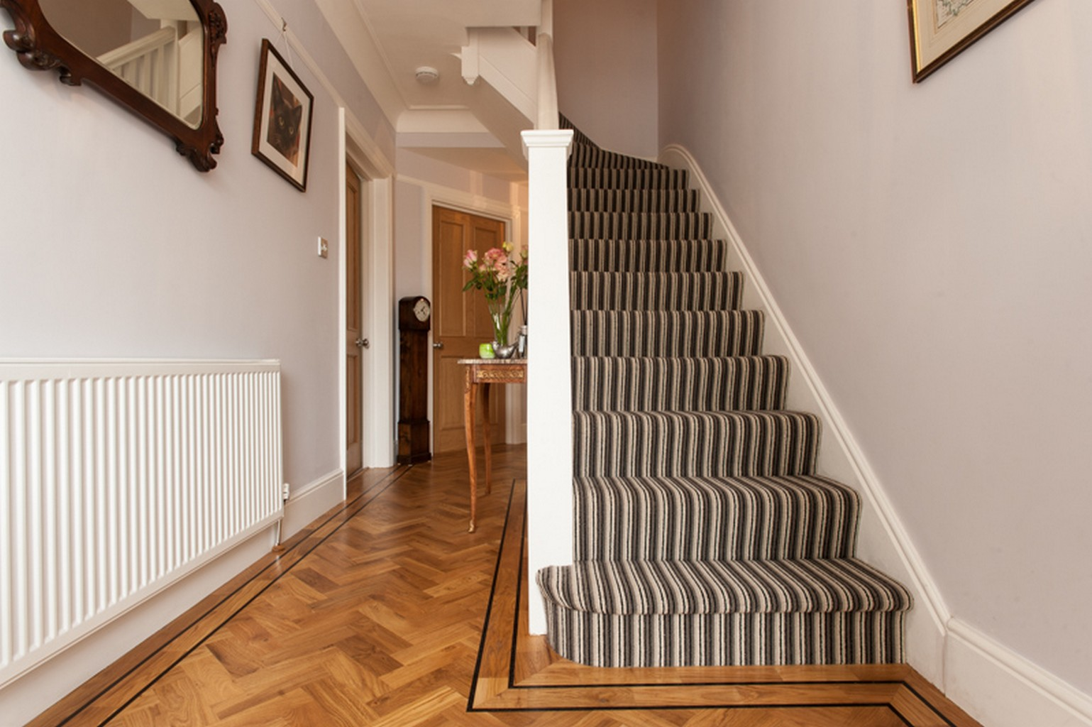 Striped Fully Fitted Stair Carpet