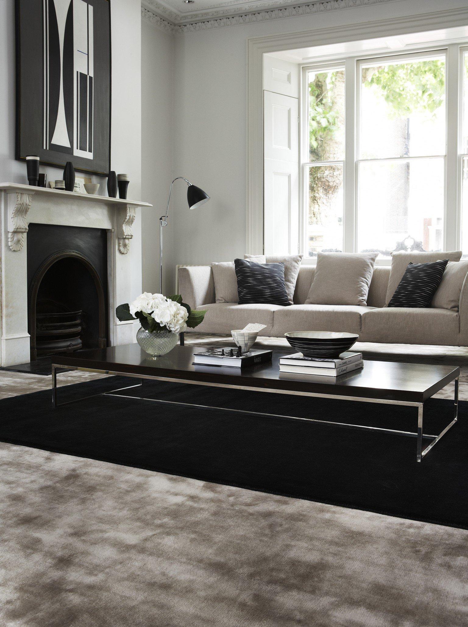 grey Sylka luxury carpet in living room