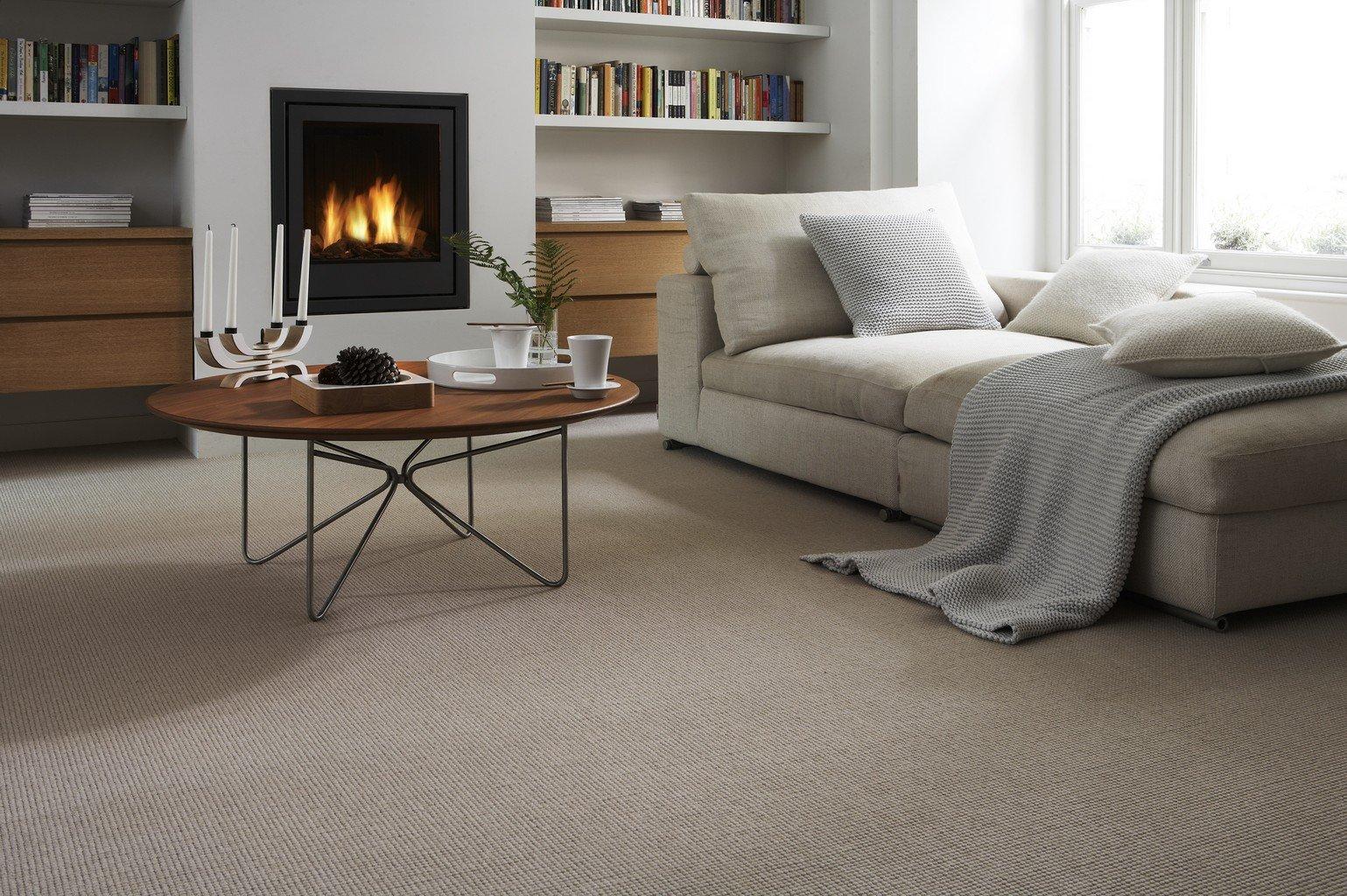 luxury carpet in modern scandi living room