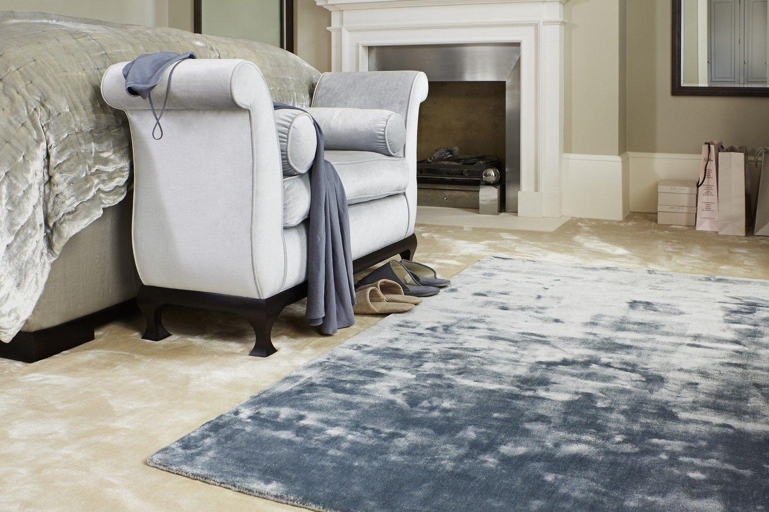 cream silk effect luxury carpet