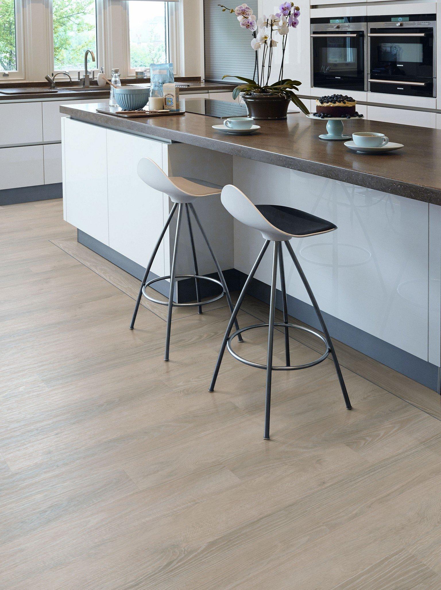breakfast island with luxury vinyl karndean and amtico flooring