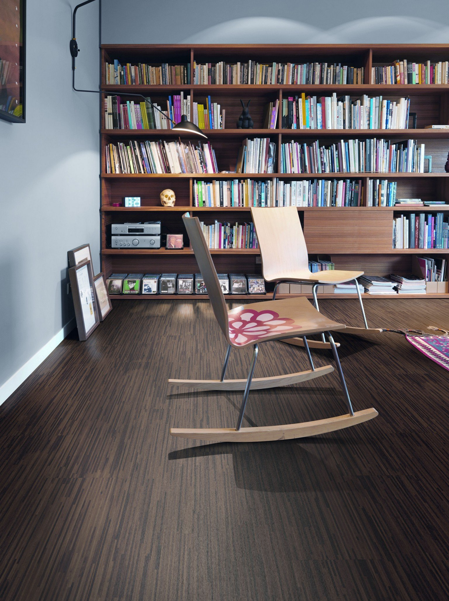 luxury vinyl karndean and amtico and rocking chair