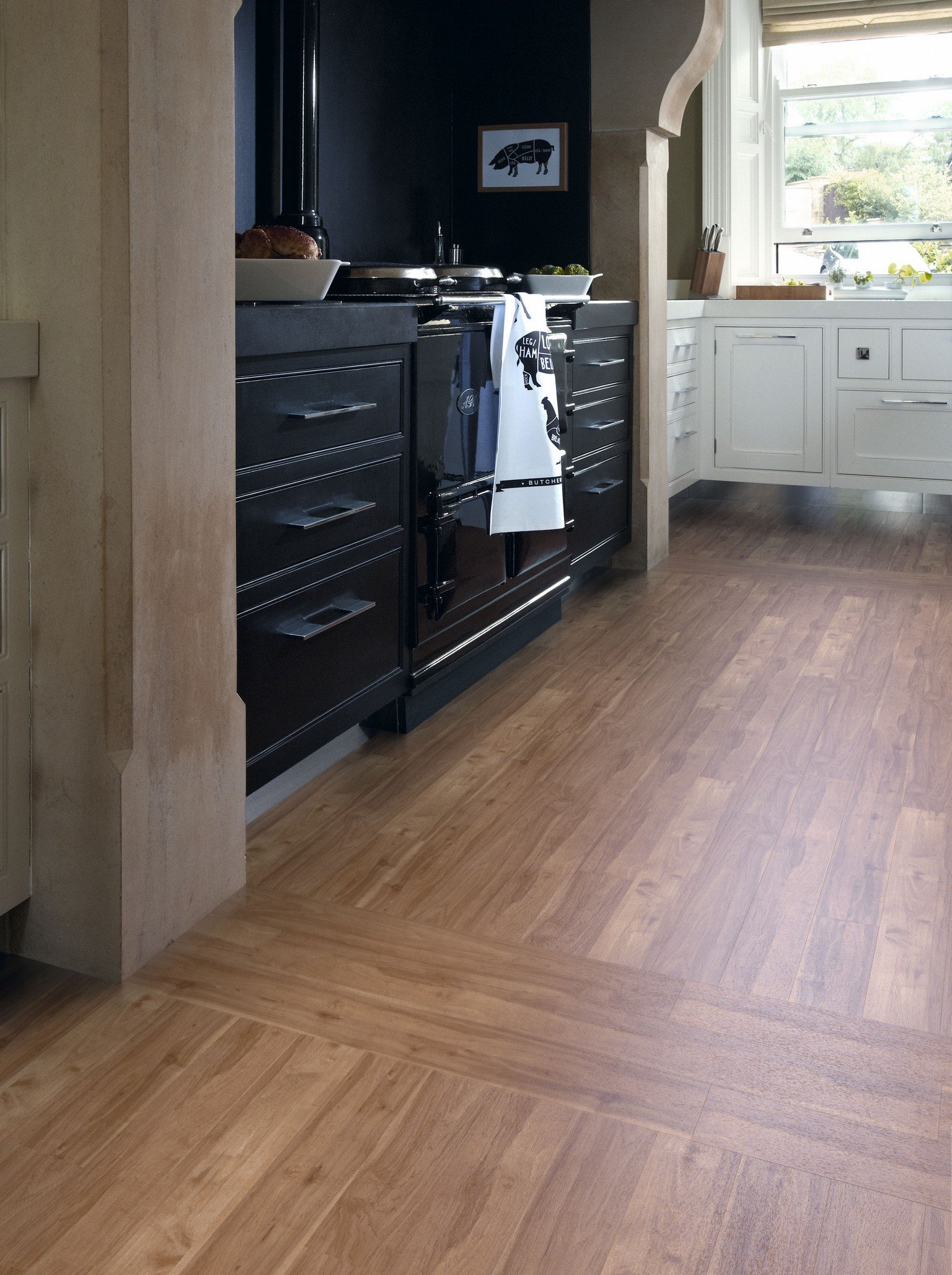 kitchen with luxury vinyl karndean and amtico flooring