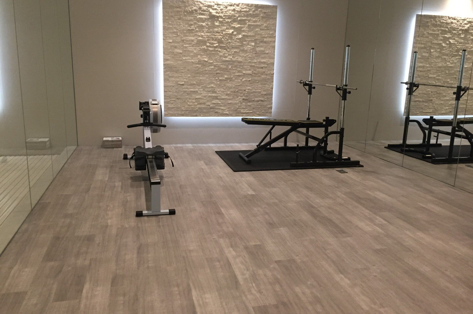 luxury karndean flooring in home gym