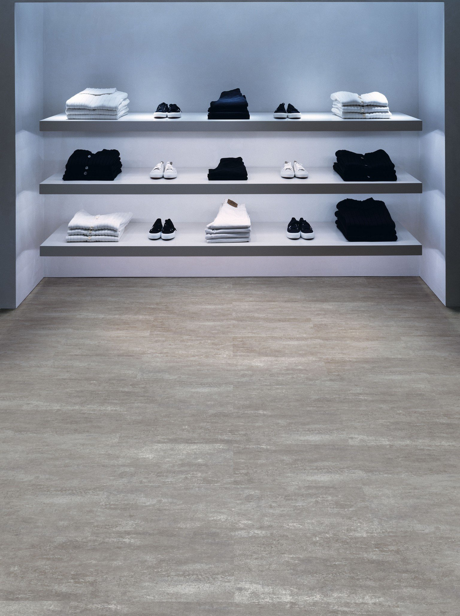 luxury vinyl amtico flooring in walk in wardrobe