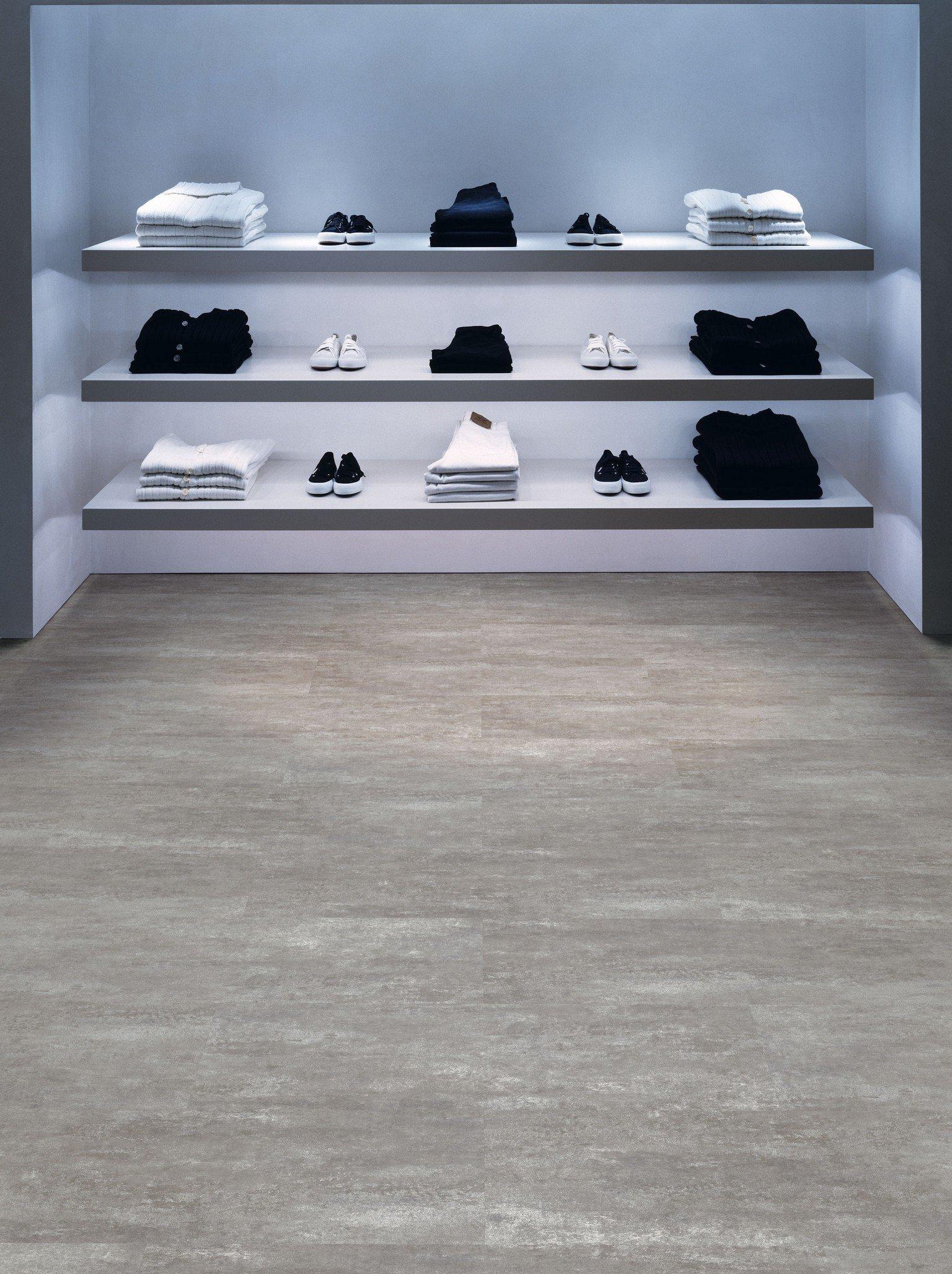luxury vinyl amtico flooring in walk in wardrobe