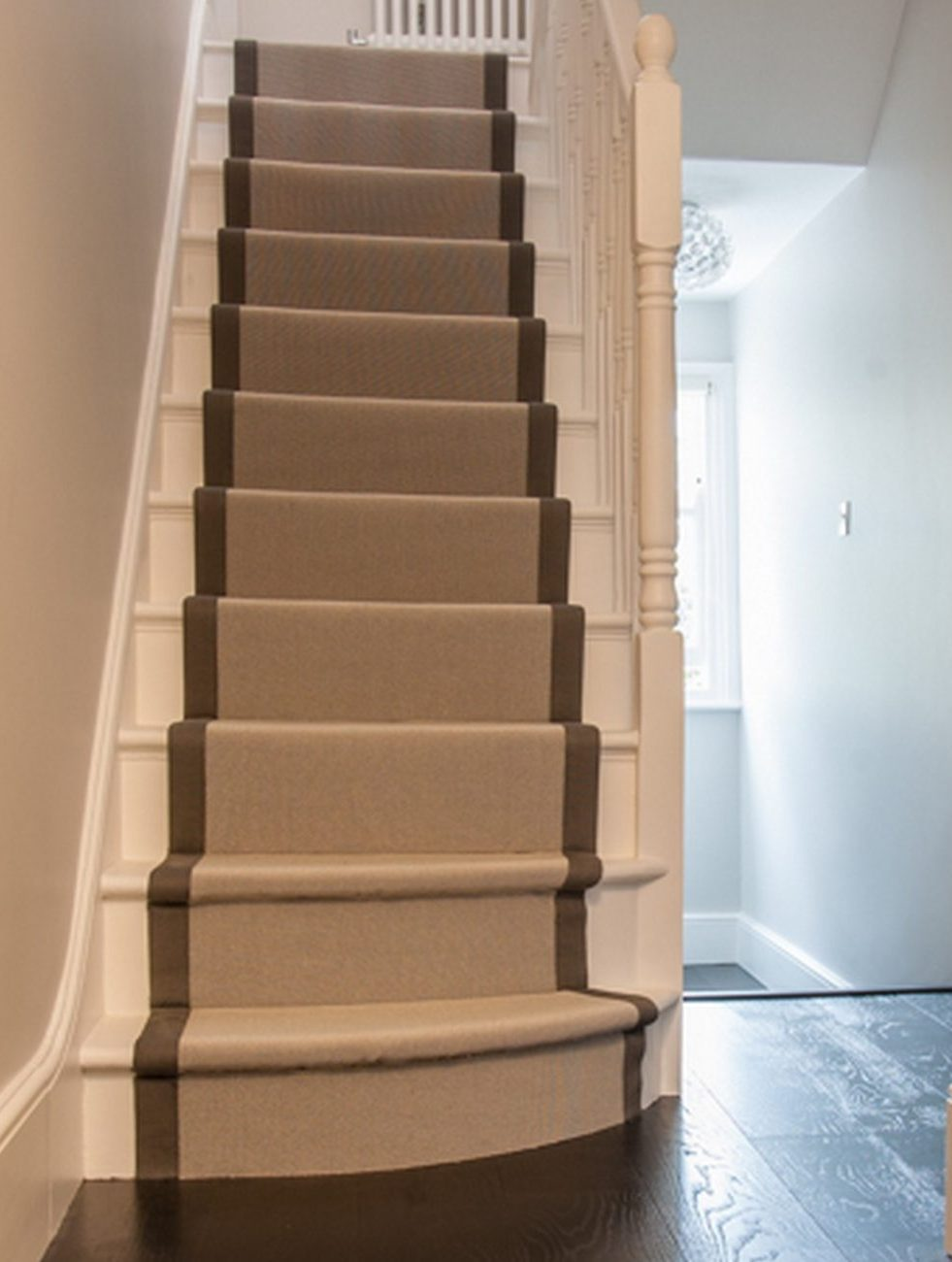 stair runner grey border