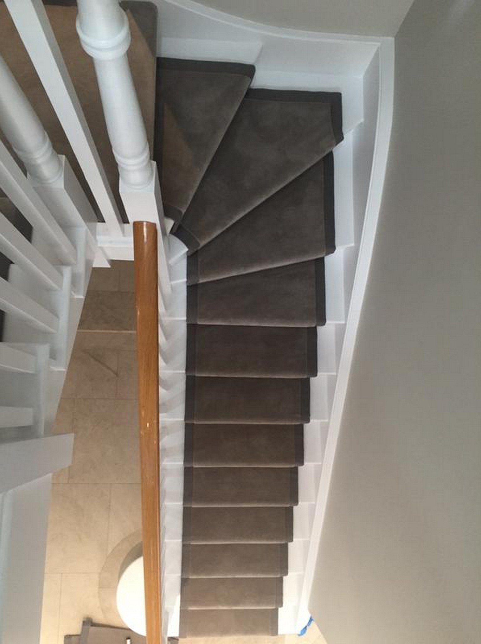 luxury stair runner grey