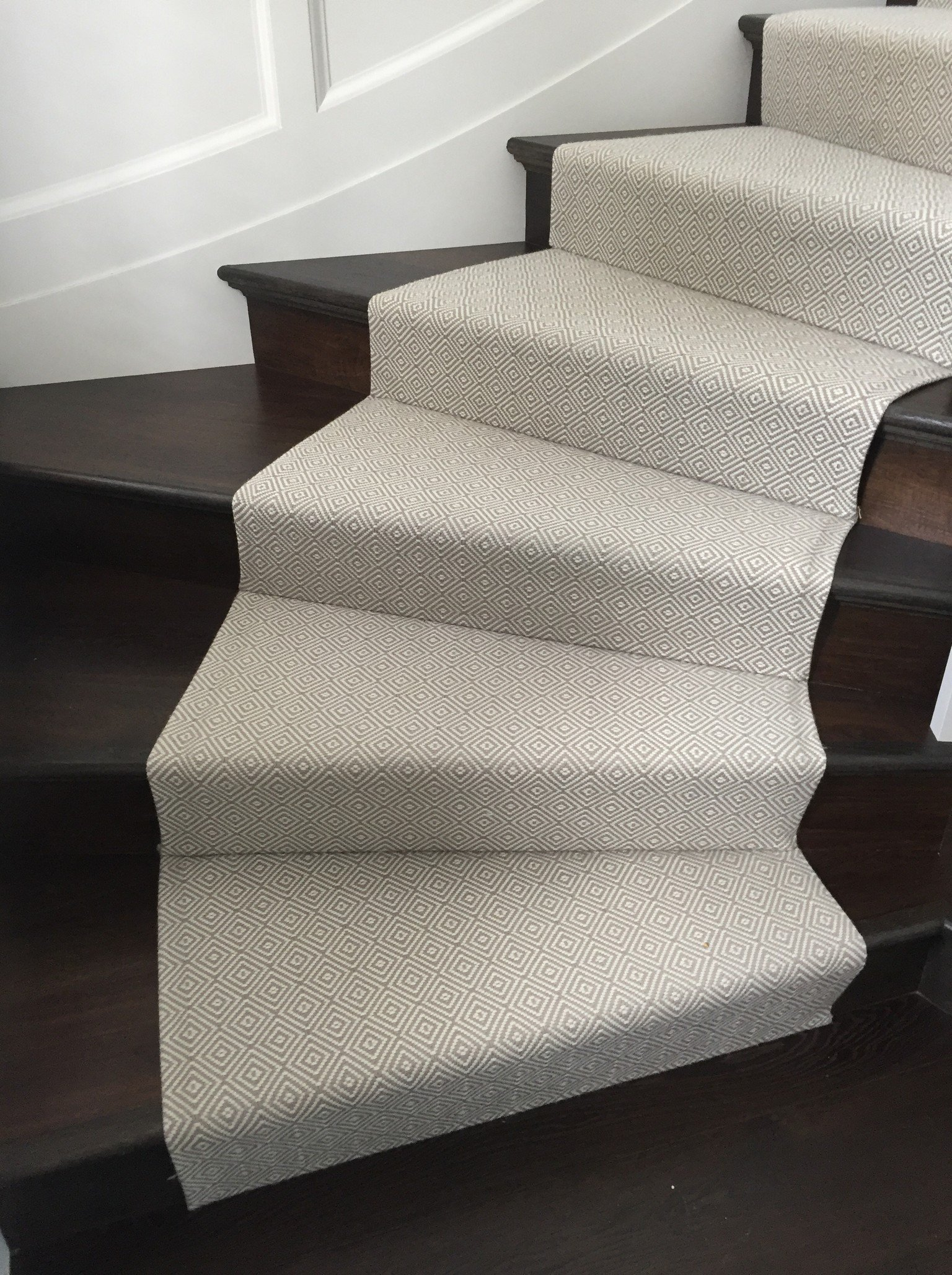 luxury wood flooring and stair runner