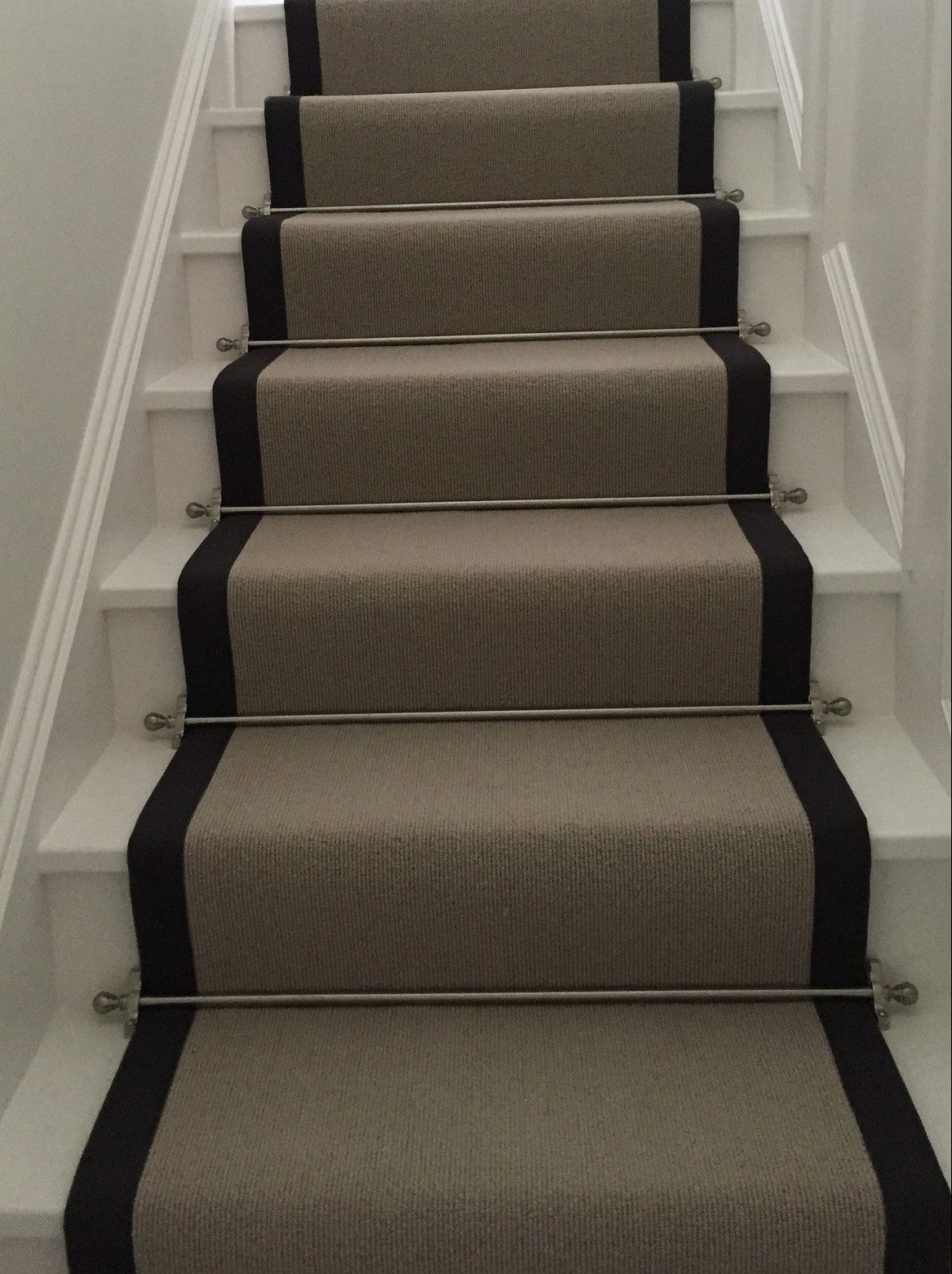 stair runner and rods