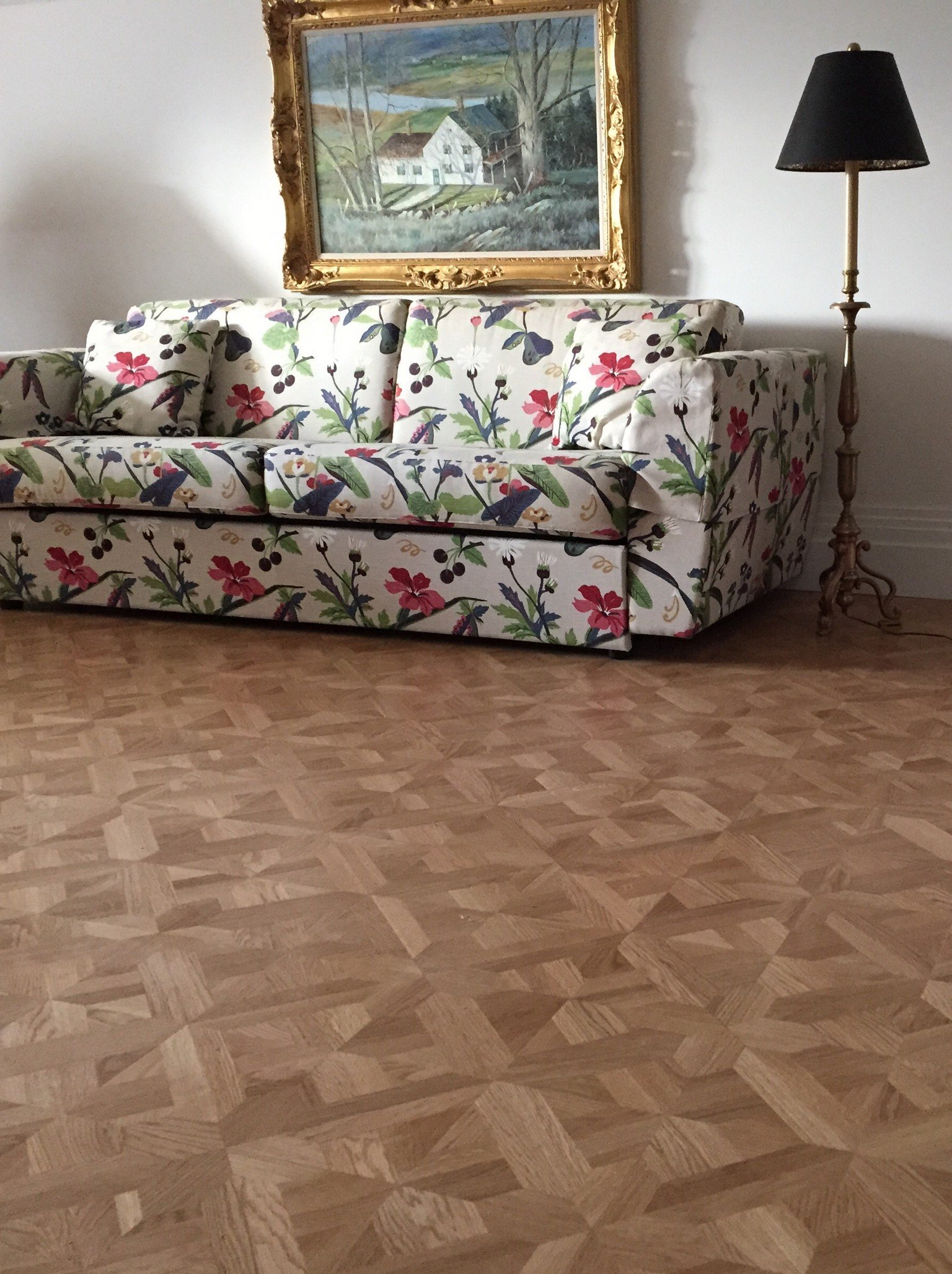 versailles oak design panel wood flooring living room