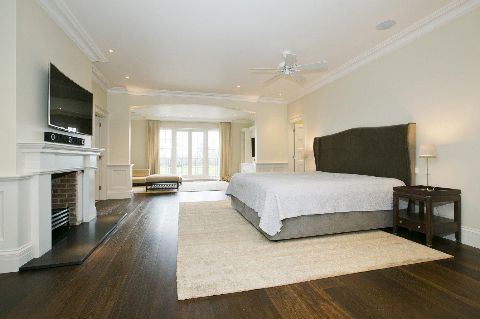 luxury wood flooring in master bedroom