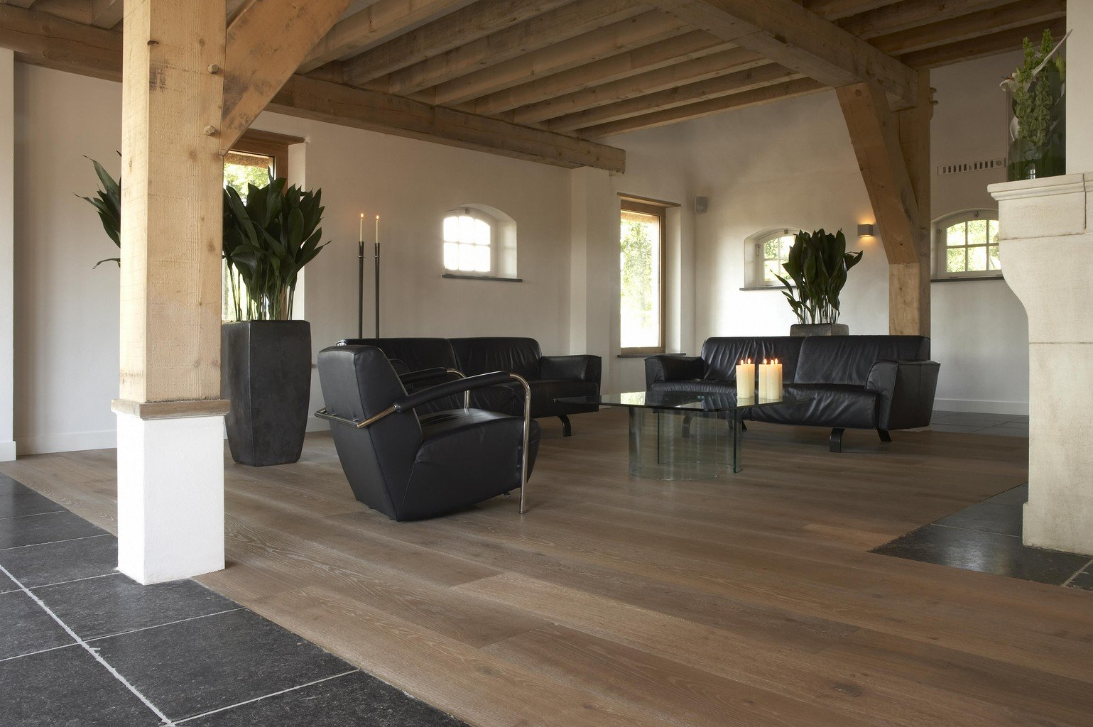 luxury wood flooring in lounge